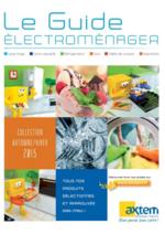 Catalogues et collections Axtem : Le guide électroménager Automne Hiver 2015