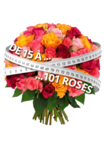 Catalogues et collections Florajet : De 15 à 101 roses à partir de 22€