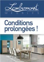 Prospectus Meubles Lambermont  : Conditions prolongées