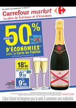 Prospectus Carrefour Market : Jusqu'à 50% d'économies avec la Carte de Fidélité