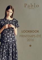 Catalogues et collections Pablo : Lookbook printemps été 2016