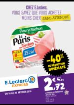 Prospectus E.Leclerc Express : -40% de réduction immédiate