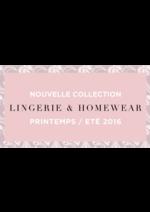 Catalogues et collections Eurodif : Lookbook Lingerie & Homewear printemps été 2016