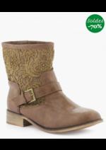 Promos et remises La Halle aux Chaussures : La paire de boots Naf Naf à -70% !