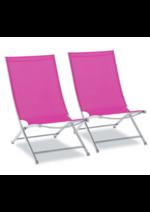 Catalogues et collections OOGarden : Lot de 2 chaises OOLY Fushia à 69€