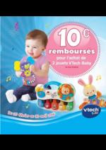 Bons Plans Aubert : 10€ remboursés pour l'achat de 2 jouets VTech Baby