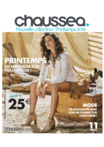 Catalogues et collections Chaussea : Bookmark Printemps 2016