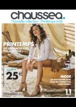 Catalogues et collections Chaussea : Bookmark Printemps 2016
