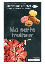 Promos et remises  : Ma carte traiteur