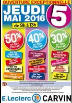 Promos et remises E.Leclerc : Jusqu'à 50 % en bon d'achat le jeudi 5 Mai de 9h à 13h !