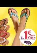 Promos et remises Chauss Expo : Tongs, 1 euro la 2ème paire !