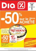 Prospectus Dia : -50% sur le 2ème acheté