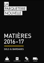 Promos et remises  : Catalogue: Matières Sols & Bardages 2016-17