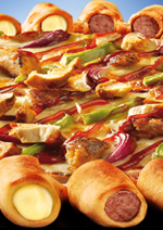Catalogues et collections Pizza hut : La pizza hot dog est de retour