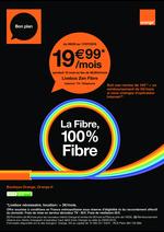 Prospectus Orange : La fibre, 100% fibre