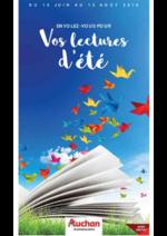 Prospectus Auchan : Vos lectures d'été