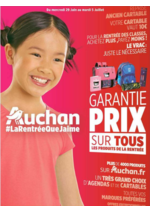 Prospectus Auchan : Garantie prix sur tous les produits de la rentrée