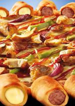 Catalogues et collections Pizza hut : Craquez pour la pizza mini hot dogs saucisses poulet