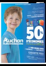 Prospectus Auchan : 50% d'économies avec votre carte Auchan