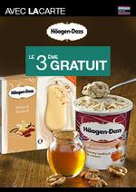 Promos et remises  : Häagen-Dazs le 3ème gratuit