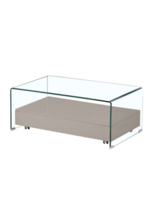 Promos et remises Conforama : -50% sur la table basse en verre Shelly : 67,50€