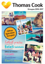 Promos et remises  : Catalogue Groupes 2016-2017