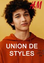 Catalogues et collections H&M : Lookbook homme Union de styles
