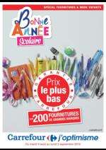 Prospectus Carrefour : Bonne Année Scolaire