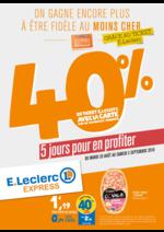 Promos et remises  : 40% en ticket E.Leclerc avec la carte sur de nombreux produits