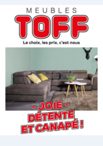 Prospectus Meubles Toff : Joie, Détente et canapé