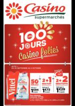 Prospectus Supermarchés Casino : Les 100 jours Casino folies
