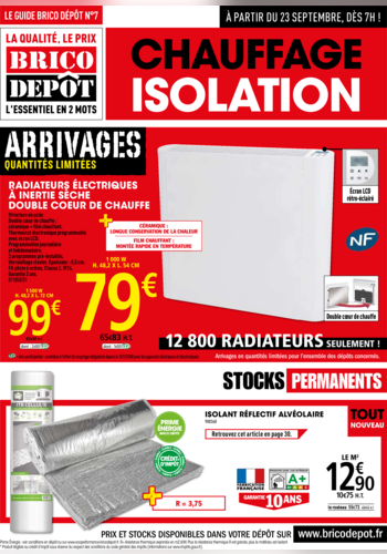 Chauffage et isolation brico d p t for Brico depot isolation polystyrene