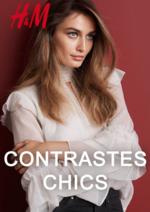 Catalogues et collections H&M : Lookbook femme contrastes chics