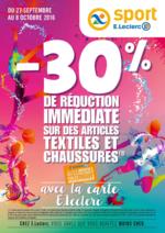 Prospectus E.Leclerc : -30% de réduction immédiate sur des articles textiles et chaussures