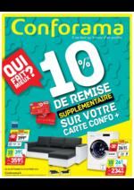 Prospectus Conforama : 10% de remise supplémentaire sur votre carte Confo +