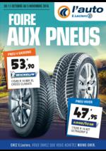 Prospectus L'auto E.Leclerc : Foire aux pneus