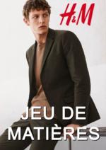 Catalogues et collections H&M : Lookbook homme Jeu de matières