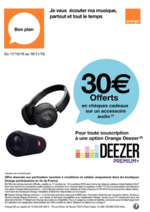 Prospectus Orange : Profitez du plus grand catalogue de musique digitale: DEEZER