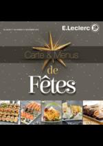 Prospectus E.Leclerc : Carte & Menus de fêtes