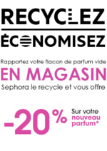 Bons Plans Sephora : -20% sur votre parfum, en recyclant votre flacon vide
