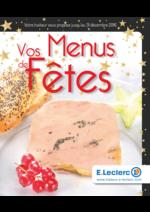 Promos et remises  : Vos menus de fêtes