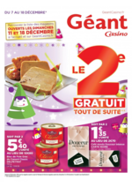 Prospectus Géant Casino : Préparatifs fêtes