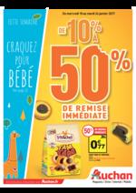 Prospectus Auchan : De 10% à  50% d'économies et craquez pour bébé