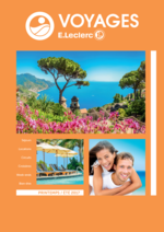 Catalogues et collections E.Leclerc voyages : Brochure printemps été 2017
