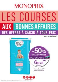 Prospectus Monoprix PARIS 95 bd Sébastopol : Les courses aux bonnes affaires
