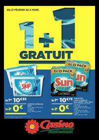 Prospectus Supermarchés Casino ANDRESY : 1+1 gratuit