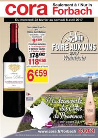 Prospectus Cora FORBACH : Foire aux vins 2017