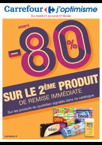 Prospectus Carrefour AUBERVILLIERS : Jusqu'à -80% sur le 2ème produit de remise immédiate