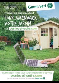 Prospectus Gamm vert FOUILLOY : Trouvez ce qu'il faut pour aménager votre jardin