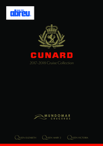 Catálogos e Coleções Abreu : Cunard Cruise Collection